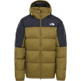 The North Face Diablo Down Hoodie Men fir green/TNF black
